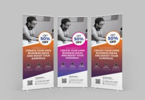 2555Get Standee Design for your Business.